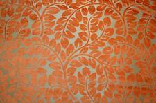 Orange Cut Velvet Floral Upholstery Hybrid Persimmon Kaufmann Fabric