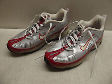 NIKE AIR MAX SILVER & RED SHOCK SNEAKERS 6.5Y EUR 39 WOMEN'S
