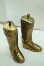 VINTAGE BOOKENDS ENGLISH RIDING BOOTS SOLID BRASS EQUESTRIAN HORSE KOREA
