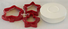 TUPPERWARE 6-DESIGN CHRISTMAS HOLIDAY COOKIE / PASTRY CUTTER & CASE SET NEW