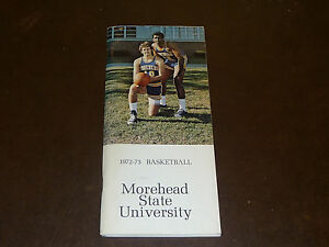1972 1973 MOREHEAD STATE COLLEGE BASKETBALL MEDIA GUIDE EX-MINT