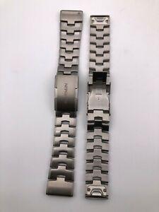 Original Garmin 22MM/26MM silvery Fenix 5/5plus 6/6pro 6X/Titanium bracelet band