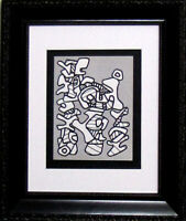Jean Dubuffet LITHOGRAPH Limited EDITION - 1973 Abstract Forms w/Custom Frame