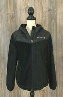 Free Country Fleece Jacket Women's XL Black Full-Zip Cinch Bottom Zip Pockets