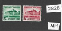 Very nice MH stamp set Third Reich Germany 1938 Hitler's Culture fund @ Saar