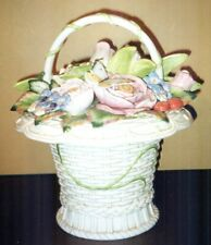 Fitz & Floyd Classics Basket of Flowers Cookie Jar Canister Centerpiece
