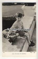 r0664 - Duke of Cornwall - a young Prince Charles with Corgi dog - postcard