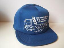 MECO Mecklenburg Equipment Co Truck Parts Hat Vintage Blue Snapback Baseball Cap