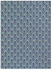The Gift Wrap Company Mini Blue Feathers Wrapping Paper (36115)