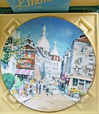 Dong Kingman Montmartre Paris Royal Doulton Plate 1978 Ltd Ed. Hand Signed