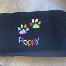 Personalised embroidered pet towel