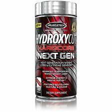 MuscleTech Hydroxycut Hardcore Next Generation Weight Loss & Extreme Sensory, 180 Capsules