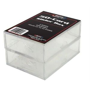 (1 Case of 100 Boxes) BCW 2 PIECE SLIDER BOXES - 200 COUNT (CT) Box