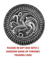 GAME OF THRONES TARGARYEN DRAGON SHIELD COLLECTIBLE HOUSE CREST BADGE GIFT BOX