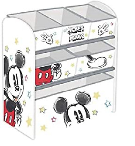 Micky Maus Holz Spielzeugregal Retro Jungen Kinderregal Organizer Mickey Mouse