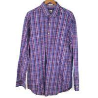 Peter Millar Men's Multi Color checked long sleeve shirt XL