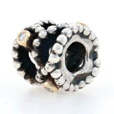 Pandora Diamond Delight Charm - Sterling & 14k Gold Authentic Genuine 790411D