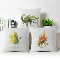Fashion Geometric insects Cotton Linen Throw Pillow Case Cover Home Decor