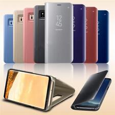 NUEVO Samsung Galaxy S7 Edge S8 + Vista Inteligente Espejo Cuero