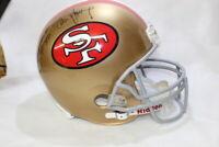 STEVE YOUNG JERRY RICE San Francisco 49ers Signed Full Size Helmet JSA COA