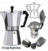 Coffee Pot Percolator 1 3 6 9 Cup Espresso Moka Maker Aluminium