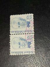 US Plate Blocks Stamps Sc# 1866 ~ 1982 ROBERT MILLIKAN 37c Used Pair -#2237