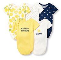 The Children's Place Baby Girls' Short Sleeve Bodysuit 5Pcs 6-12 MOS