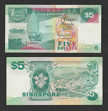 Singapore 5 Dollars (1989) P19 Ship Series - Crisp UNC