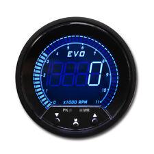 85 mm Digital Tachometer Gauge 4 Color LCD Display 12 V Mounting 11000 RPM