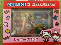 One piece Hello Kitty Wall clock  Rare Japan new collaboration