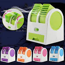 Mini Small Fan Cooling Portable Desktop Dual Bladeless Air Cooler USB blower