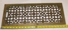 ANTIQUE BRASS FLOOR WALL GRATE DUCT VENT ARCHITECTURE ESTATE 22 X 9ARTS CRAFT