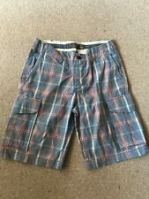 MENS EUR 31 H&M BLUE/PINK CHECKED SHORTS SUMMER/TOWIE/SPORT/FOOTBALL/GYM/CYCLE
