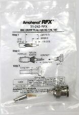 NEW Amphenol RFX 31-242-RFX Male BNC Connector for RG179 & RG187, Crimp Plug