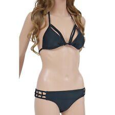 Womens V-Wire Plunge  Bikini Set Swimsuit Bathing Suit Swimwear Beachwear 8817