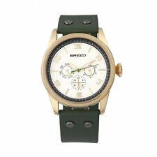 Breed Rio Green Leather Gold Men's Watch with Day Date BRD7404