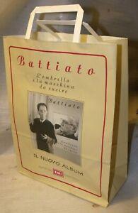 FRANCO BATTIATO - STADIO - BUSTA in CARTA Promozionale Shopper New Never Used