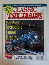 CLASSIC TOY TRAINS MAGAZINE-MARCH 1997-Richard Kughn's Incredible Lionel Display