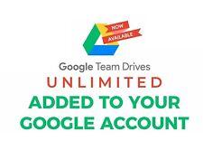Unlimited Google Drive Storage - Team Driver - Lifetime - NEW
