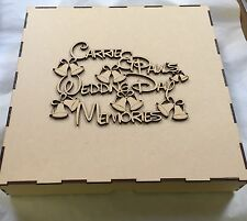 1 x 300x300x200mm Mdf Box With Personalised  Topper laser cut