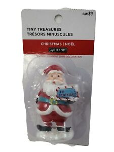 Ashland Christmas Tiny Treasures, Santa with a sign   2018  NEW