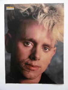 """Martin Gore """"Depeche Mode"""" Autogramm signed A4 Magazinbild"""