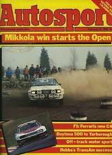 Autosport Feb 23rd 1984 *Daytona 500 & Trans Am Survey*