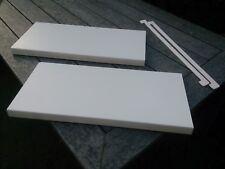 2 WERZALIT Fensterbank Fensterbänke Fensterbrett weiß 300mm NEU + PVC Endkappen