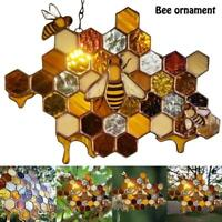 Queen & Bee Protect Honey Sun Catcher Bee Hanging Pendant Art Decoration TH