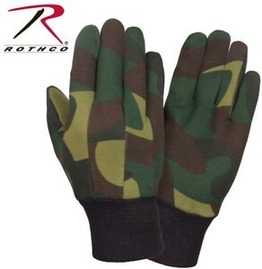 Sportsman's Fleece Lined Jersey Gloves Camouflage Rothco 4414