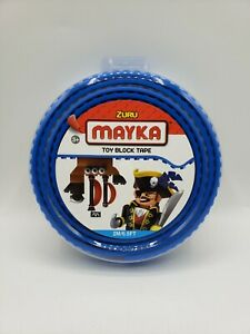 NEW Zuru Mayka Toy Block Tape Blue 2M/6.5 FT Reusable Cut Shape Stick Build