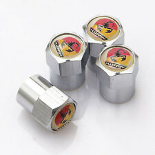 4x Car Wheel Tire Valve Dust Stems Air Caps Covers Accessories Logo For ABARTH