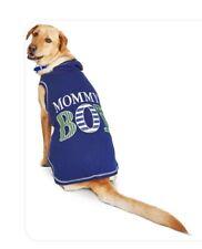 """WAG-A-TUDE Blue """"MOMMY'S BOY""""  FLEECE HOODIE Puppy/Dog XLARGE"""