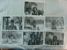 Lot of 7 Vintage Photos Long Hair Handsome Men in Arms 811007